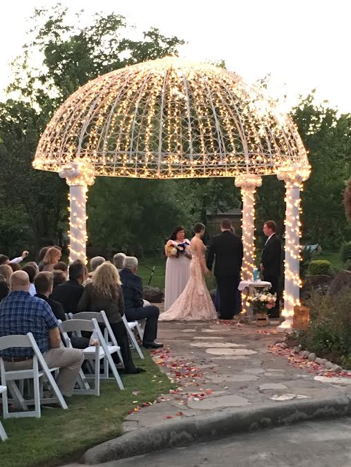 gazebo wedding in houston