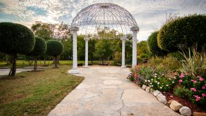 waterfall gazebo outdoor wedding