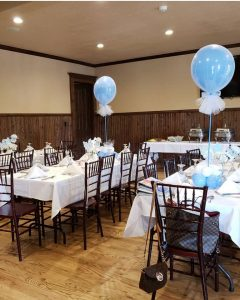 baby shower in houston set up for baby boy