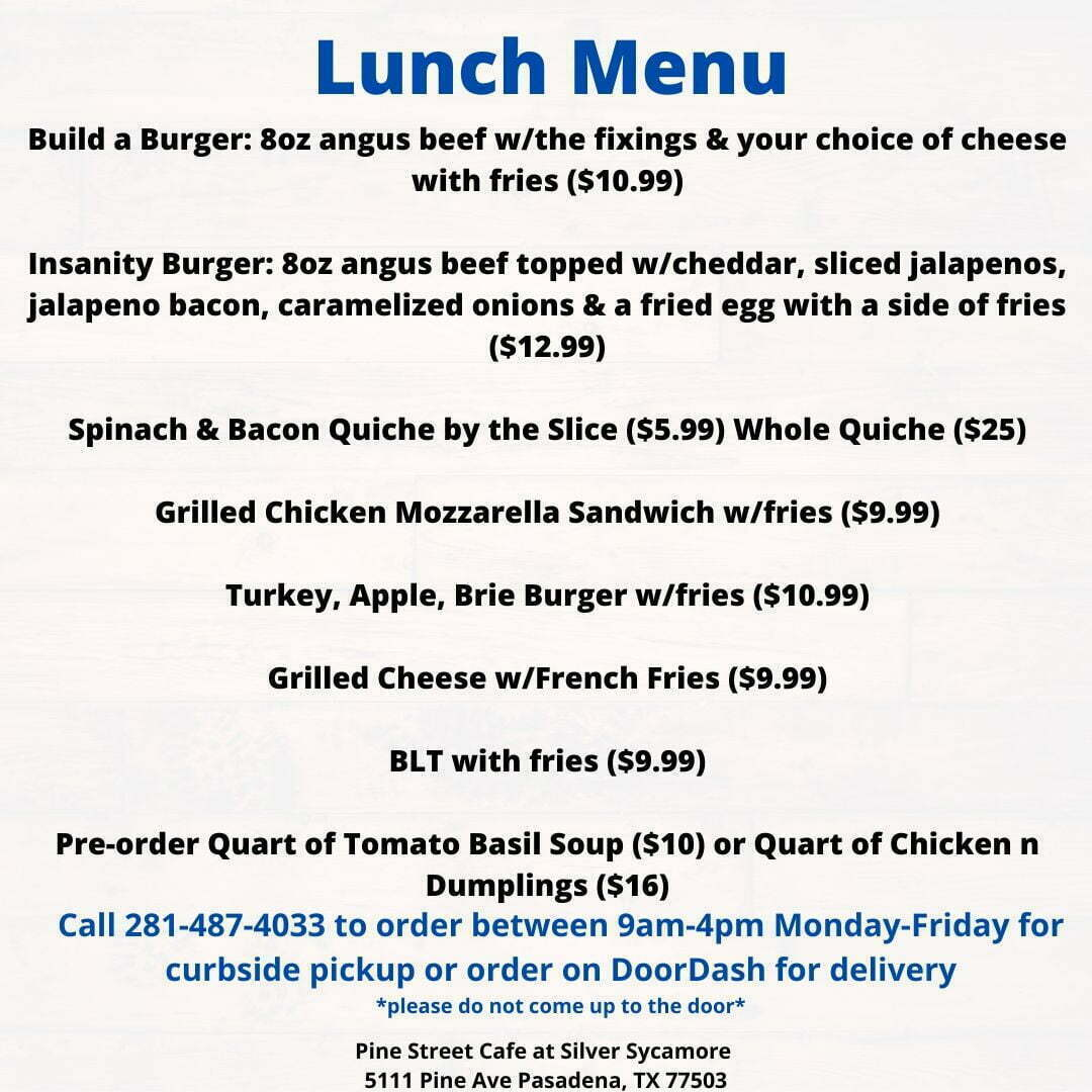 restaurant in pasadena tx lunch menu