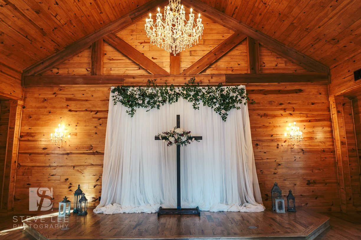 chapel wedding decor at ceremony only wedding venue in houston