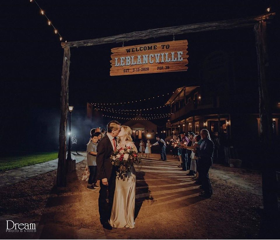rustic wedding in houston send off
