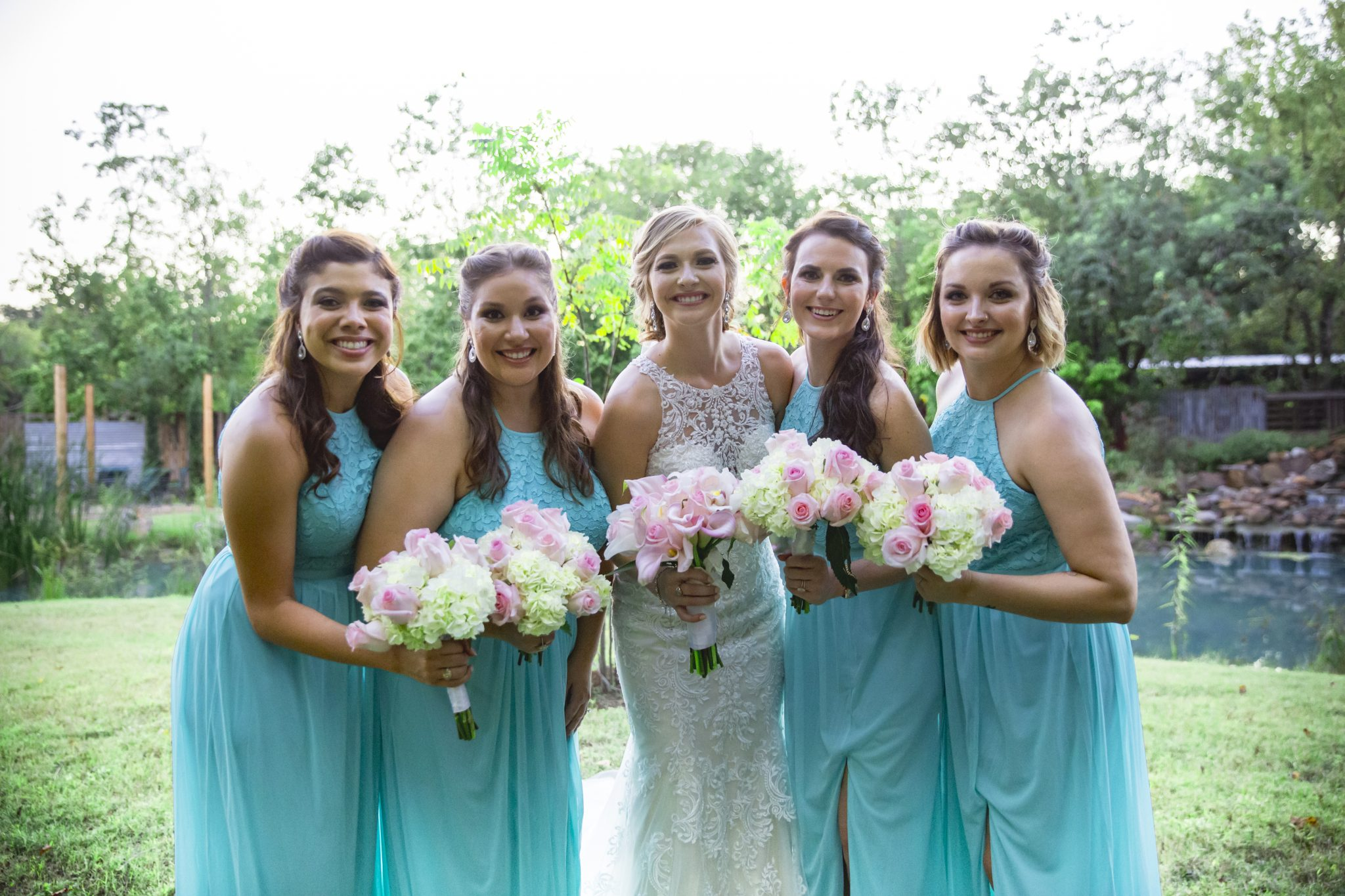 bridal party outdoor