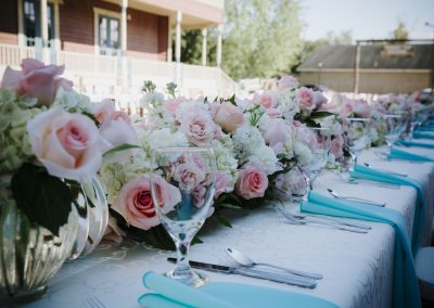 outdoor wedding venue decor