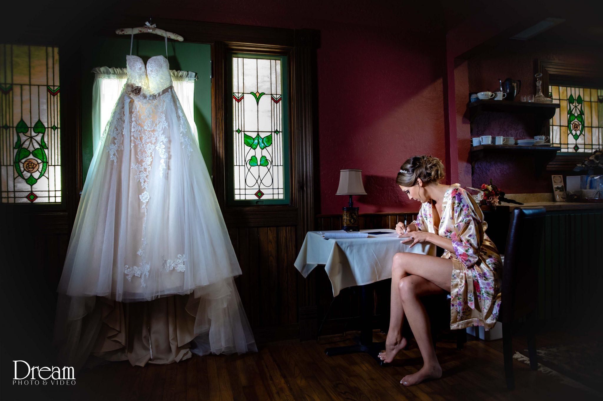 bride writes vows