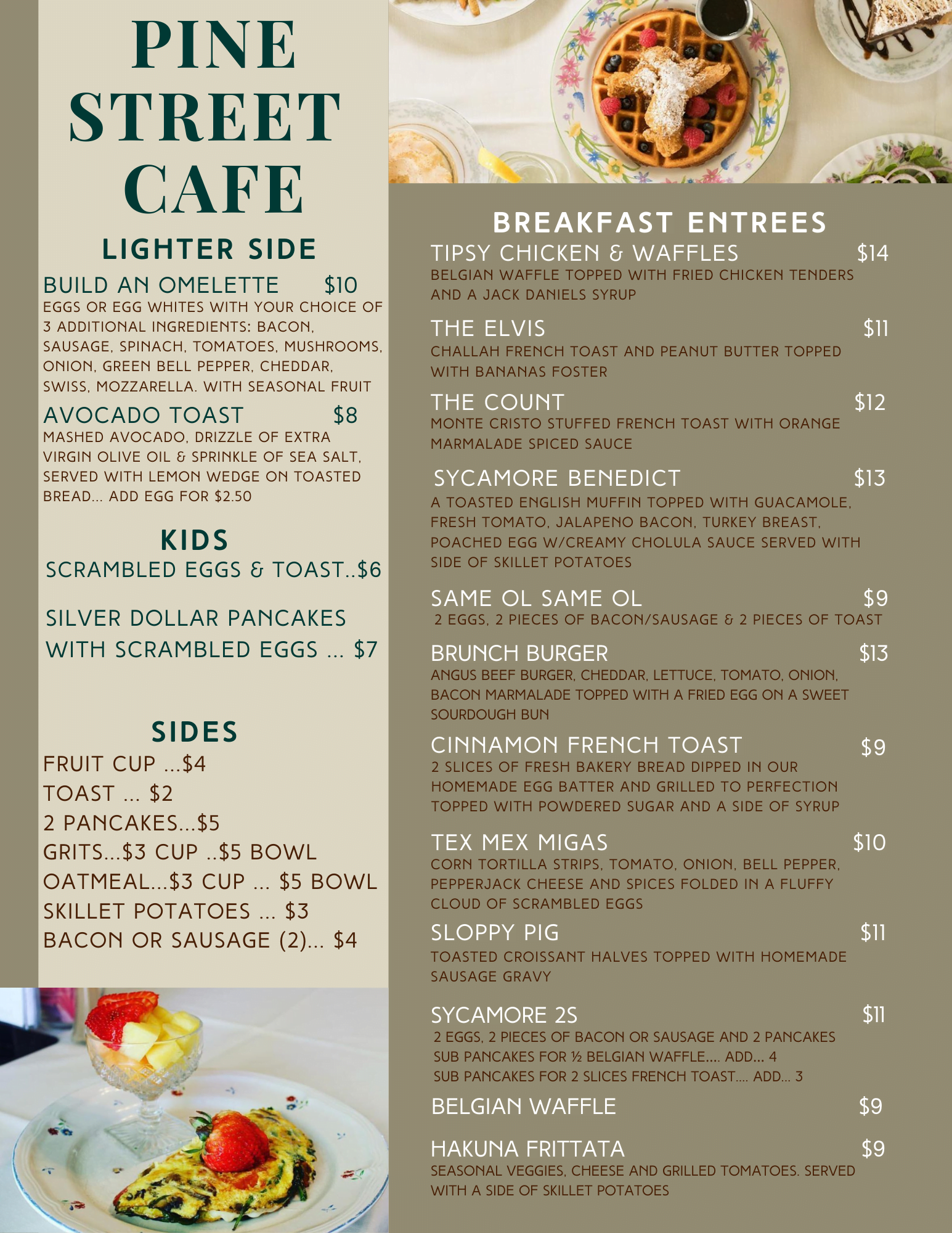 pine street cafe breakfast menu