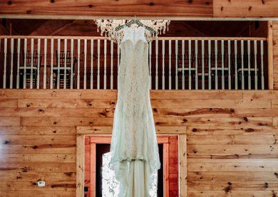 wedding gown photo in wedding chapel